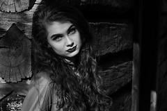 Kaylee Tate (StephenChaotic) Tags: kaylee kayleetate portrait portraiture senior edgy girl senior2017 dark lipstick longhair curlyhair edgygirl altgirl