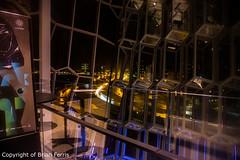 _IMG4343 (acornuser) Tags: iceland europe city lanscape cityscape architecture building glass modern light night sky water reflection pentaxk3 sigma1770 bw blackandwhite sculpture harpa lighttrail viking reykjavik