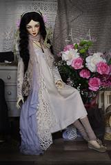 Flowers Child (AyuAna) Tags: bjd ball jointed doll dollfie ayuana design handmade ooak clothing clothes dress set llt lalegendedetemps blue magpie bluemagpie impldoll star body normalskin