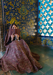 A young adult woman reads a book inside masjed-e sheikh lotfallah, Isfahan province, Isfahan, Iran (Eric Lafforgue) Tags: 1people adult adultsonly book chador colorimage esfahan fullframe hispahan indoors iran iranian isfahan islam islamic ispahan ladymosque middleeast mosque muslim oneperson onewomanonly orient people persia photography portrait quran reading sepahan sheikhlotfollah shy spadana unrecognizableperson veil veiled vertical window woman youngadult isfahanprovince