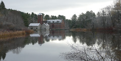 Millpond and Old Sparhawk Mill (jaybirding) Tags: leicavlux114 maine me outdoor scenery stormer yarmouth us