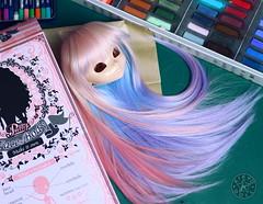 WIP - Pullip Geek - (Kikyô) Tags: wig custom custo pullip poupée artiste création homemade perruque cheveux wip workinprogress festival rennes kikyo kikyodoll