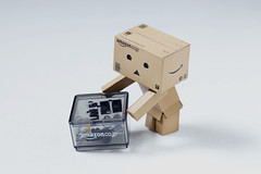 Danbo Lift with your Knees not with your Back (vmabney) Tags: danbo danboard toys safety lift