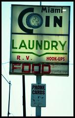 Miami Coin Laundry (~ Lone Wadi Archives ~) Tags: miamiarizona miamcoinlaundry laundromat sign signage americansouthwest smalltown advertisement business gilacounty
