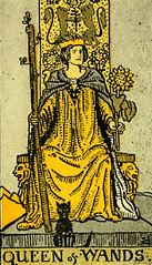 Queen of Wands (~ Lone Wadi Archives ~) Tags: tarot tarotcard blackmagic sorcery fortunetelling retro 1910s occult queenofwands