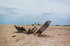 The wrecked boat (Akilan T) Tags: india remains tamilnadu rameswaram cwc dhanushkodi hauntedisland wreckedboat chennaiweekendclickers