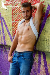 Model Josh (PaBirder1974) Tags: shirtless urban hairy sexy male graffiti cub model arms modeling masculine muscle dirty rough fitness tough abs built malemodel scruff physique beater hairychest hairymen fitnessmodel urbanmodel