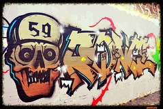 '59 death's-head (ericbaygon) Tags: street urban art skull graffiti nikon tag dessin rue 59 charleroi urbain marchienne d300s