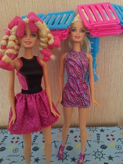 Endless Curl Barbie (Just a Nobody) Tags: color hair doll barbie style curls fashiondoll endless hairchalk