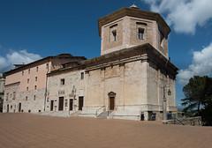 Piazza del Duomo, Spoleto (Sorin Popovich) Tags: travel italy tower architecture del square outdoors europe nopeople blueskies piazza spoleto citysquare umbria buildingexterior duomospoleto