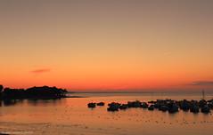 Port St-Jacques (yannrichard170) Tags: sunset sea sky orange beach sunrise brittany bretagne coastline plage 56 lever océan