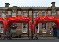 The People's Canopy (Tony Worrall) Tags: show county city uk red england people urban color students bike fun cycling stream colours tour open place northwest unitedkingdom candid country wheels north visit location lancashire event entertainment cycle area council preston northern update attraction uclan stpetersstreet lancs universityofcentrallancashire flagmarket welovethenorth 2015tonyworrall lancashireencounterfestival thepeoplescanopyprocession