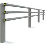 車両用防護柵(ガードパイプ)の写真