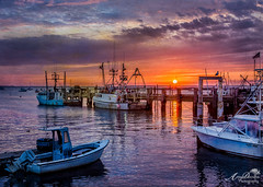 MacMillan Wharf (by Amy Davies, Plymouth, MA) Tags: texture sunrise harbor provincetown capecod september workshop wharf fishingboats ptown 2015 macmillanwharf