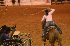Breaking Left (Get The Flick) Tags: jeans rodeo lariat cowgirl calf roper roping lasso riata gayga 2015iprasoutheastregionalfinals