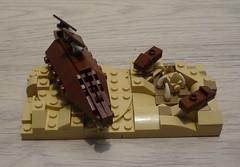 Mirco Sail Barg (falke_heinz) Tags: star lego mini micro sail wars skiff barge tatooine sarlacc