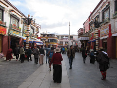 "Barkhor Street <a style=""margin-left:10px; font-size:0.8em;"" href=""http://www.flickr.com/photos/127723101@N04/22301219351/"" target=""_blank"">@flickr</a>"