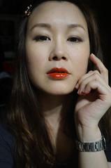 November 24, 2015 - Selfie / Sony Nex 3N (Pumpkin Chief) Tags: portrait people woman selfportrait female night asian kate taiwan sp tainan playful selfie sonynex3n nex3n