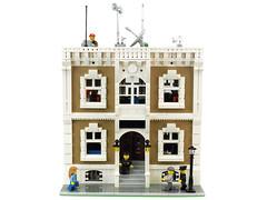 Police station (de-marco) Tags: city building station town lego police latvia modular jail bandit latvija latlug