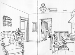 The sitting room of the Cottage Suite