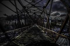 HDR le vieux pont de fer (yannick_gagnon) Tags: bridge dark pentax sombre pont saguenay hdr fer rouille jonquiere qualit arvida tnbreux hdrquebec pentaxlife hdraward hdrqubec pentaxk50