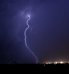 lightening (sekharmach) Tags: sky nature evening outdoor lightening stormynight thunder rageofnature