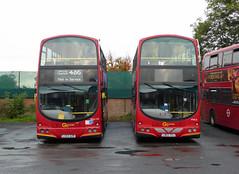 GAL VWL11 LB02YXJ - WVL123 LX53AZR - BX BEXLEYHEATH BUS GARAGE - WED 4TH NOV 2015 (Bexleybus) Tags: bus london ahead volvo garage go gemini etb bexleyheath bx goahead wrightbus vwl11 lb02yxj lx53azr wvl123