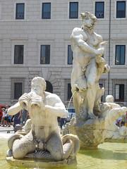 Bernini's Moor - Fontana del Moro - Piazza Navona - Rome - July 2016 (litlesam1) Tags: italy rome soloromejuly2016 july2016 fountains