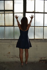 'Trapped' (miranda.valenti12) Tags: trapped trap enclosed taty windows window lighting light sunlight does portrait posing pose stance standing heels