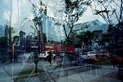 seoul45 (samica jones) Tags: seoul korea chaos mysterious life death atmosphere voigtlander double exposure urban obscure bessa r cinestill 800t experiment