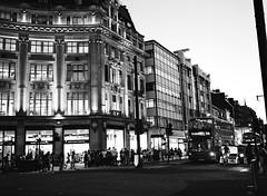 Oxford Street (oh it's amanda) Tags: fujiga645i ga645i ilfordxp2 blackandwhite blackwhite bw c41bw london londonengland uk