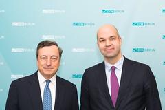 Mario Draghi and Marcel Fratzscher (DIW Berlin) Tags: bank diweuropelecture mariodraghi rede zentralbank berlin diw lecture