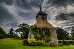 Croft Castle Chapel (21mapple) Tags: croft croftcastle castle manor house home chapel church religion religious medieval trees grass garden clouds cloudy hdr nationaltrust nt nature national trust canon750d canon canoneos750d canoneos countryside outdoors outside outdoor old clock spire
