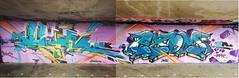 Mesk CNN KSA Exom (ExomOne) Tags: street art streetart one graffitibelgium blue gold spray colors compo antwerpen anvers bruxelles brussels belgique belgium graffiti ksa cnn mesk exomone