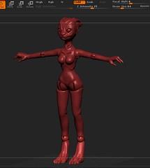 2016-10-27_23-55-17 (Maria Zeligen /Zeligen/) Tags: 3d 3dprint 3dmodel reptile mass effect garrus turian monster alien girl zbrush bjd doll