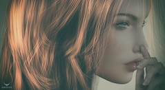 Dee~Wistful (Skip Staheli *11 YEARS SL PHOTOGRAPHY*) Tags: skipstaheli secondlife sl avatar virtualworld dreamy digitalpainting delindadench delindastaheli portrait closeup raynemorgan feelings emotion redhead