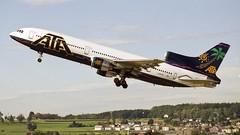 N195AT (Dub ramp) Tags: n195at ata americantransair l1011 tristar zur zurich runway16 sunny sky warm