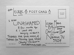 Postcard to Lecrae (Postcards to Authors | Christy Childers) Tags: postcards lecrae handwriting books