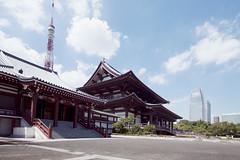 Tokyo - 52 ( CHRISTIAN ) Tags: japon japan tokyo zojoji temple bouddhisme buddhism religion tokyotower atagogreenhills architecture tradition nikon grandangle wideangle