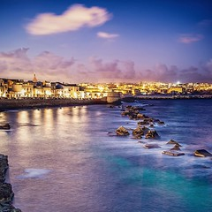 Blue Hour in Siracusa (augello.info) Tags: 500px dusk dawn outdoors sea seascape sicily cloudscape longexposure siracusa blue hour city cityscape evening ortigia tourism sky clouds