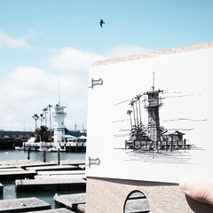 """representation"" - freehand (Dan Hogman) Tags: architect architecture california danhogman danhogmanarchitect danhogmanphotography danhogmancom fuji fujifilm fujifilmx instalation unitedstates usa xe1 sanfrancisco lighthouse sketch drawing freehand"