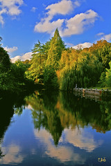 Fall (EAO72) Tags: lake reflection clouds pond istanbul forest yansma sonbahar gl orman bulutlar turkey trkiye