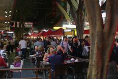The street (Ian Thomas Ackerman) Tags: sydney australia chinatown night street restaurant tree treetrunk