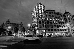The Dancing House - Prague (petrwag) Tags: street sel1018z blackandwhite blancoynegro bw blackwhite prague praha photographing