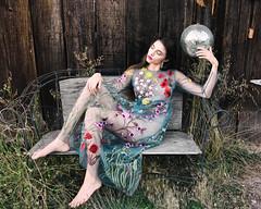 all that glitters (soul pixie) Tags: woman model dress flowers flora farm discoball weeds decay rustic canon6d naturallight kearstenleder petalumalookbook