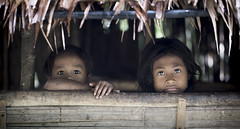 Girl and boy (Global Wildlife Conservation) Tags: batak cleopatrasneedle palawan philippines puertoprincesa southeastasia boy day forest girl indigenous native people person tribe twopeople