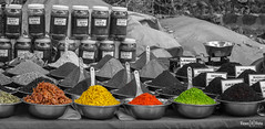 Spice Stall (views@vista) Tags: colors goa india market selectivecoloring spices streets