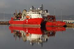 OCEAN TERMINAL, PORT OF LEITH. (Andrew Mansfield - Sheffield UK) Tags: edinburgh boat ship reflection oceanterminal leith portofleith sevennavica scotland