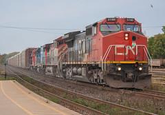 Colourful 382 (Joseph Bishop) Tags: cn 2190 ge c408w cndundassubdivision brantford ontario trains train track tracks railfan railroad railway rail rails