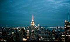 Manhattan skyline (Jim Davies) Tags: rockefellercentre topoftherock skyline night photography analogue film veebotique 35mm kodak portra 160asa c41 newyorkcity nyc newyork manhattan bigapple compact filmfilmforever olympus accura zoom 80 dlx